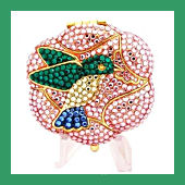 Estee Lauder Collectible Crystal Animal Compacts at KeegansKorner.com